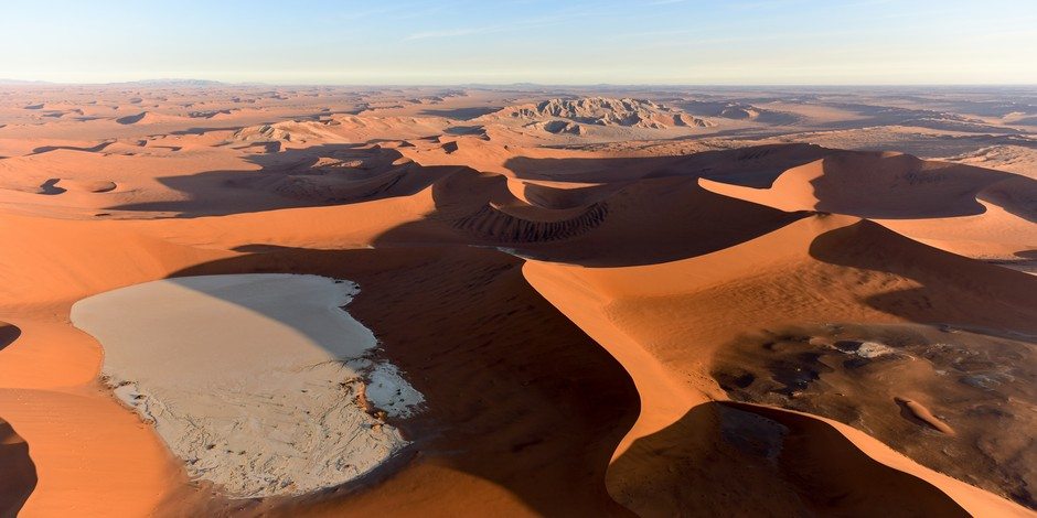 Vue aérienne du Parc National Namib-Naukluft