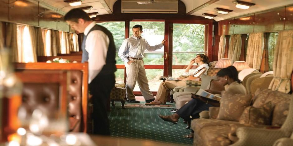 Voiture salon-observation du Train Rovos